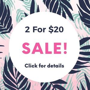 2 for $20 items with 💙
